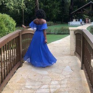 Royal Blue Chiffon Dress